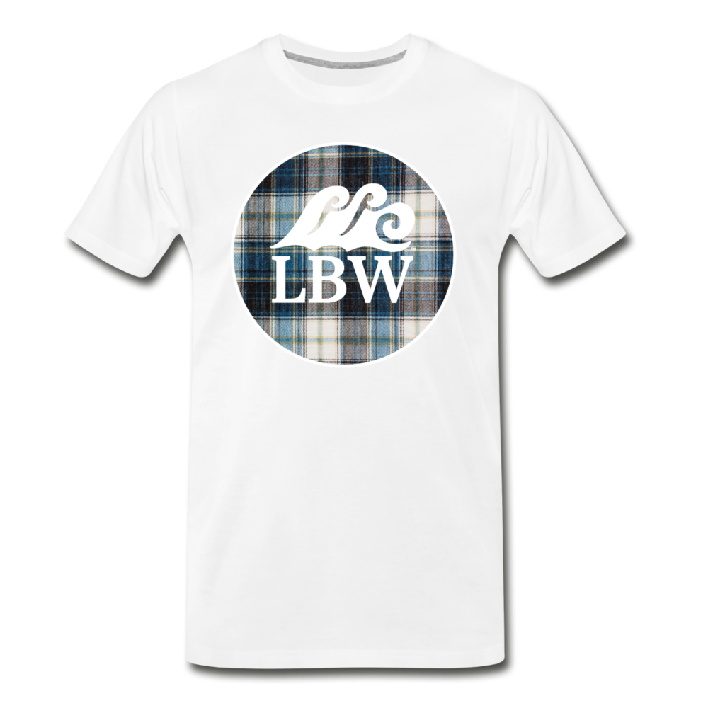 Teal Flannel-LBW Wave Logo-Unisex T - white