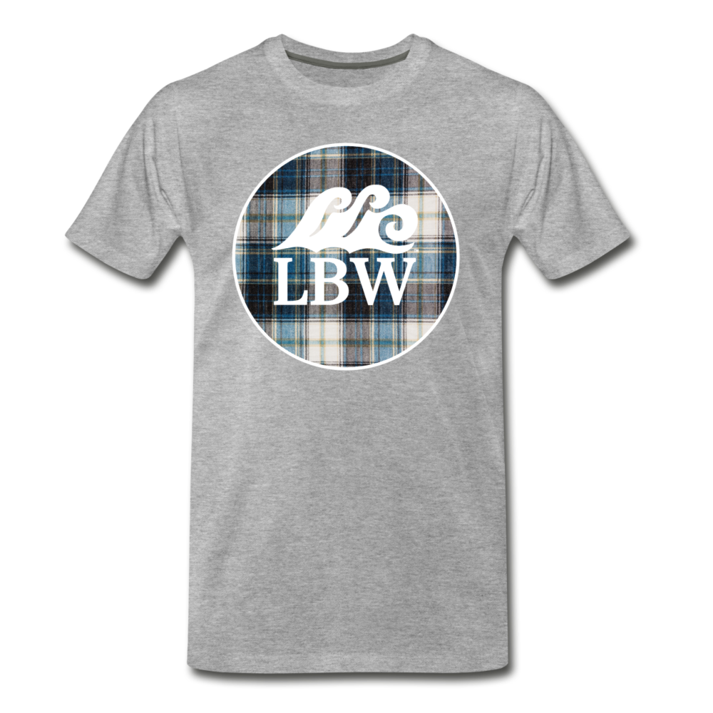 Teal Flannel-LBW Wave Logo-Unisex T - heather gray