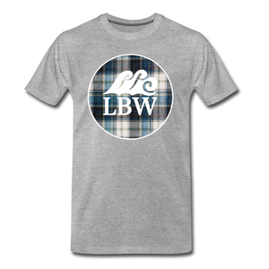 Open image in slideshow, Teal Flannel-LBW Wave Logo-Unisex T - heather gray