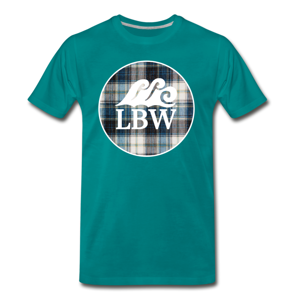 Teal Flannel-LBW Wave Logo-Unisex T - teal