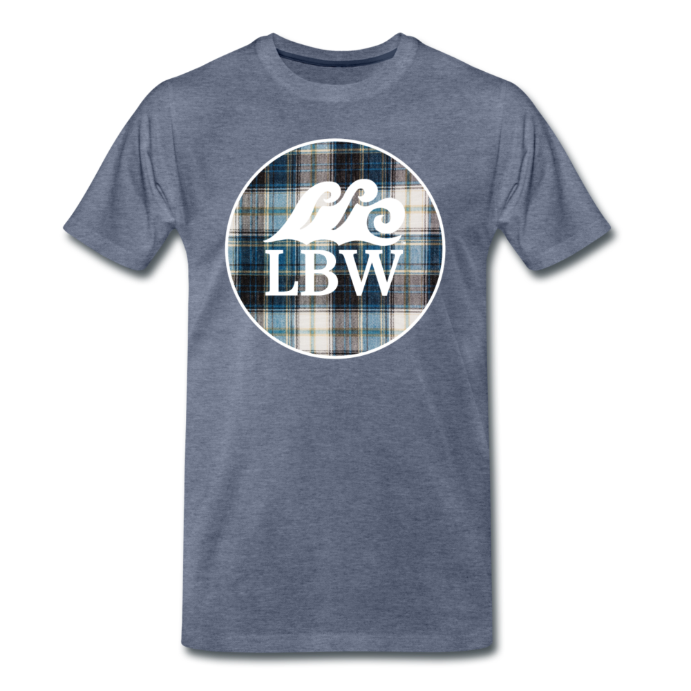Teal Flannel-LBW Wave Logo-Unisex T - heather blue