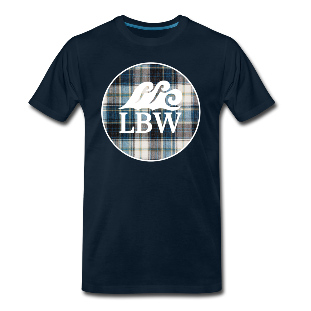 Teal Flannel-LBW Wave Logo-Unisex T - deep navy