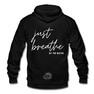 Just Breathe by the Water-Unisex Zip-up - black