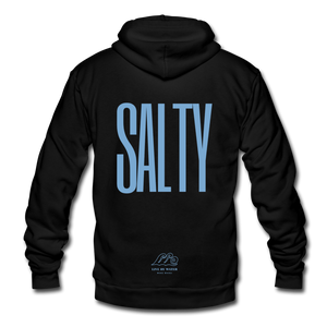Open image in slideshow, Salty /Blue-Unisex Zip Hoodie - black