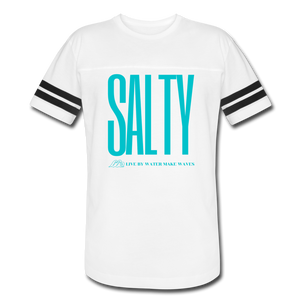 Salty/Aqua-Vintage Sport T-Shirt - white/black