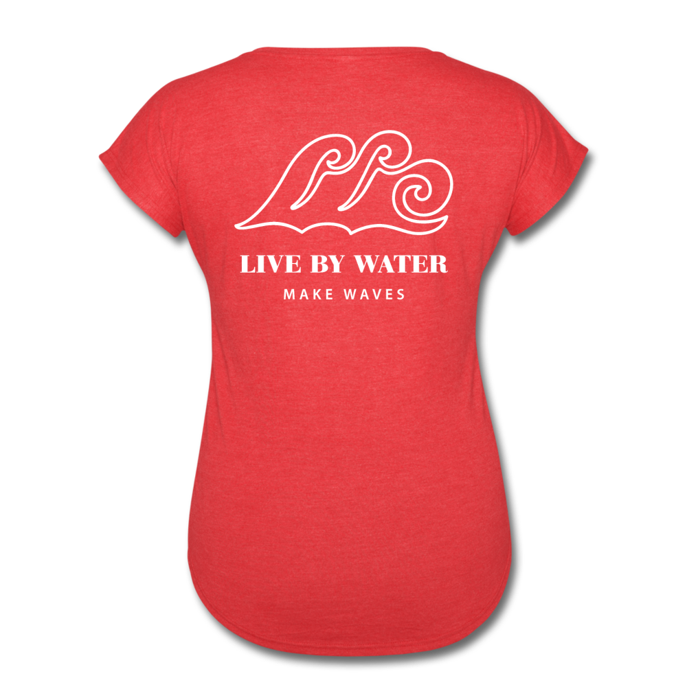 Salty/White-Women's 2-sided V-neck T - heather red