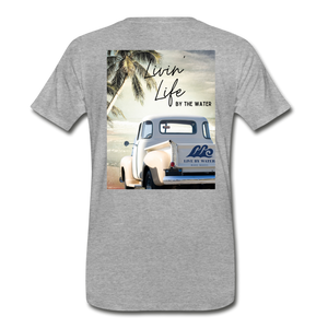 Livin' Life by the Water Vintage Truck-Unisex 2-sided T - heather gray