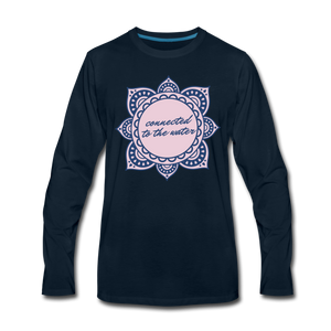 Connected to the Water-Unisex Long Sleeve T - deep navy