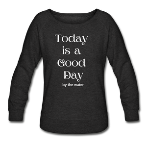 It's a Good Day-Women's  2-sided Sweatshirt - heather black