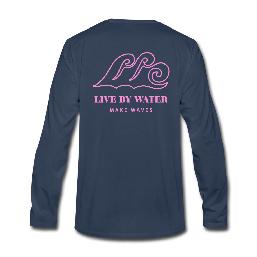 Good Day-Unisex Long Sleeve 2-sided T - navy