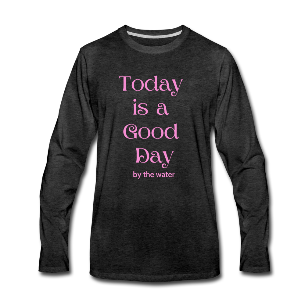 Good Day-Unisex Long Sleeve 2-sided T - charcoal gray