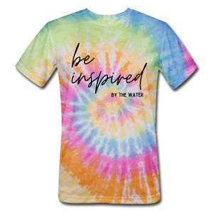Be Inspired by the Water-Unisex Tie Dye T-Shirt - rainbow