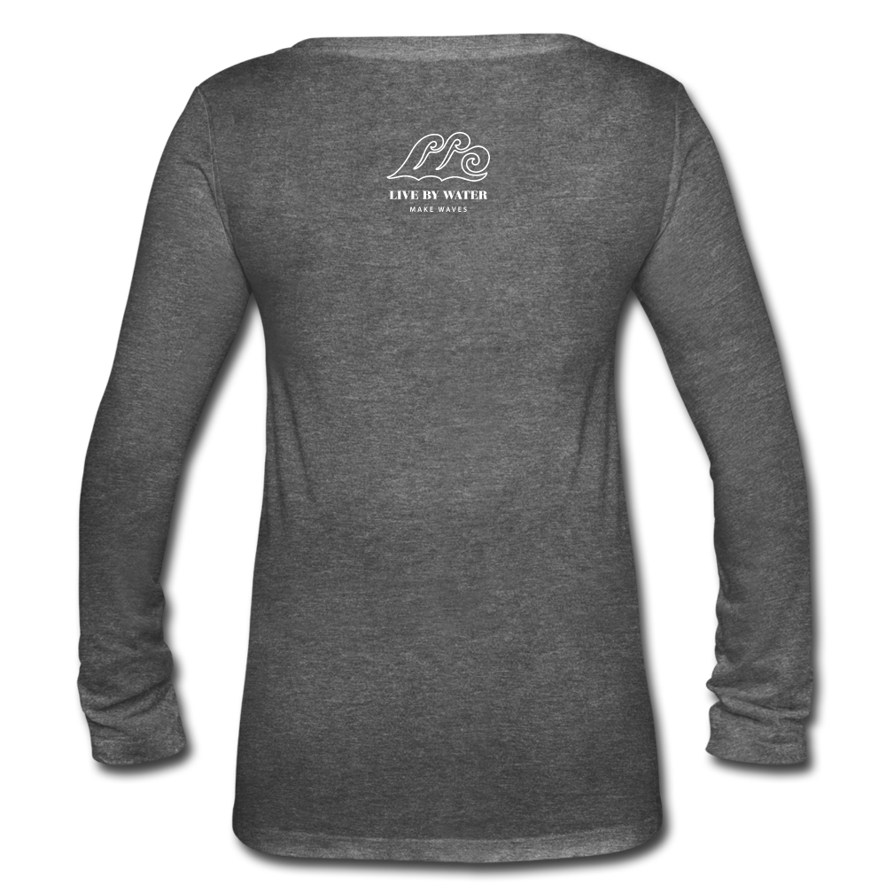 Be Inspired by the Water-Women's 2-sided Long Sleeve T - deep heather