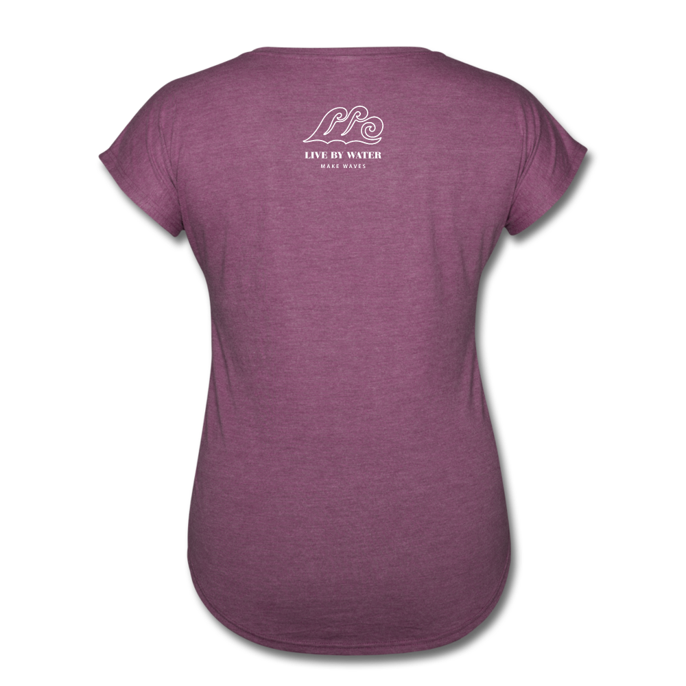 Just Breathe-Women's 2-sided V-Neck T - heather plum