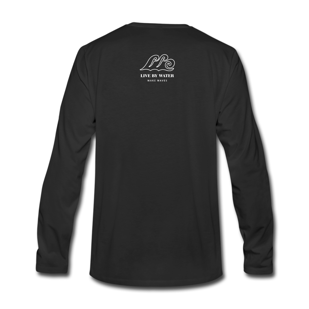 Be Inspired by the Water-Unisex 2-sided Long Sleeve T - black