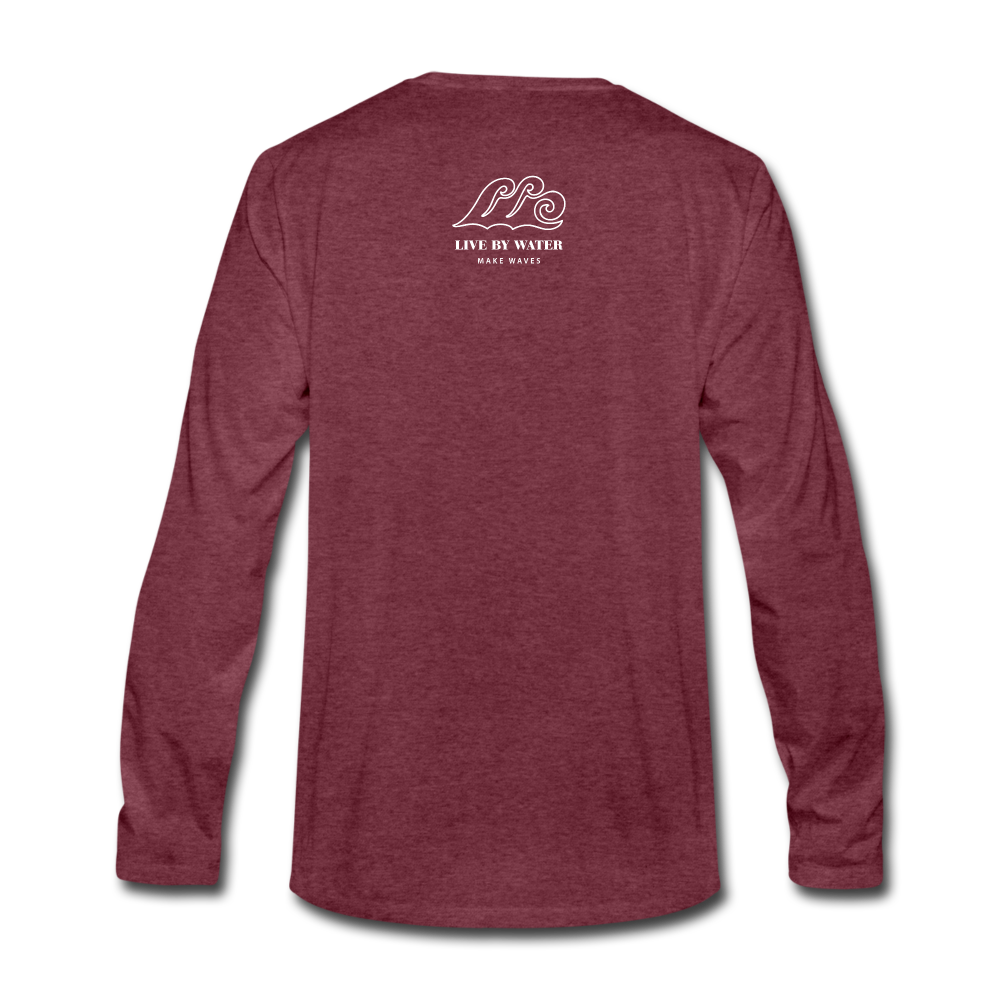 Be Inspired by the Water-Unisex 2-sided Long Sleeve T - heather burgundy