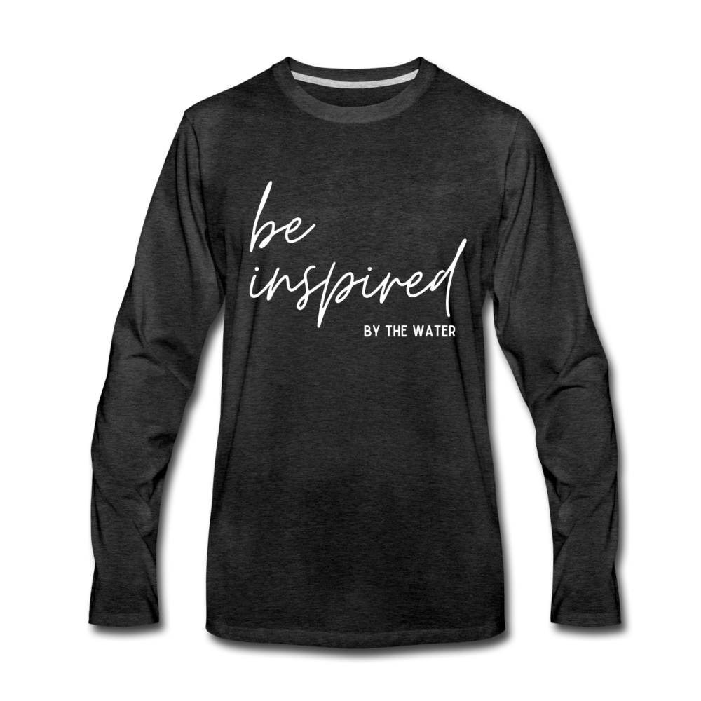 Be Inspired by the Water-Unisex 2-sided Long Sleeve T - charcoal gray