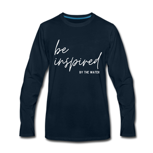 Be Inspired by the Water-Unisex 2-sided Long Sleeve T - deep navy