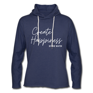 Create Happiness-Unisex 2-sided Terry Hoodie - heather navy