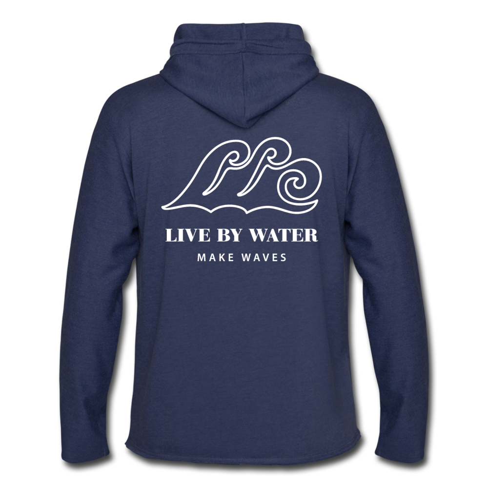 Salty by the Water-Unisex 2-sided Terry Hoodie - heather navy
