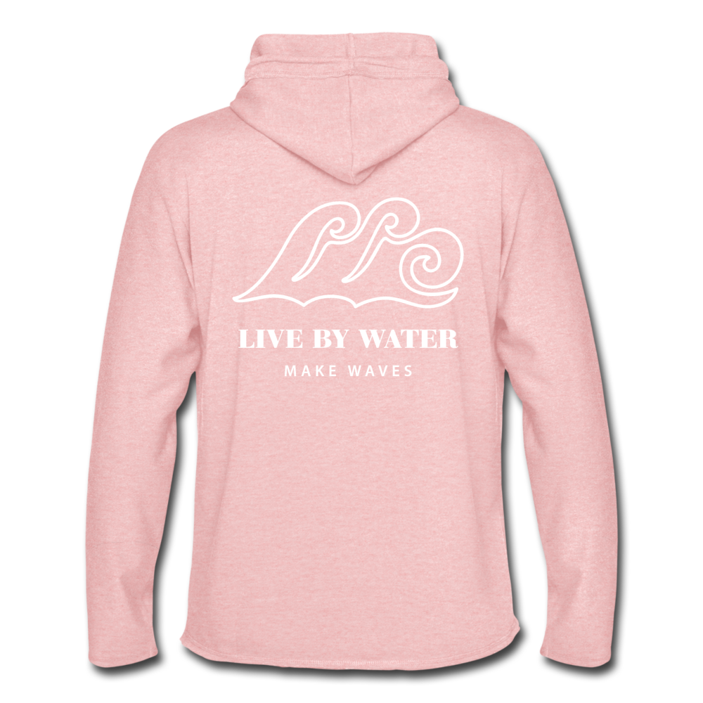 Salty by the Water-Unisex 2-sided Terry Hoodie - cream heather pink