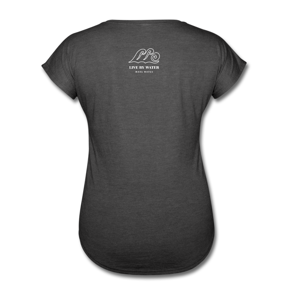 Be Inspired by the Water-Women's 2-sided V-Neck T - deep heather