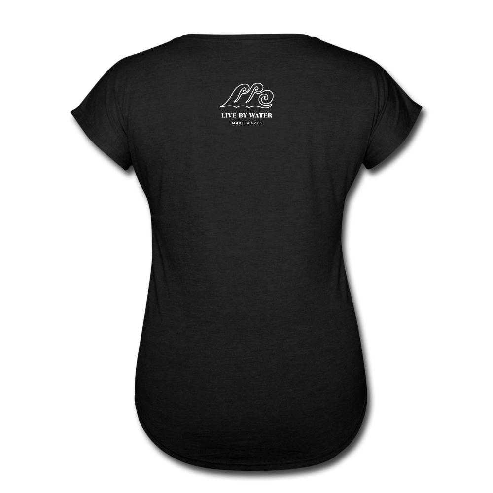 Be Inspired by the Water-Women's 2-sided V-Neck T - black