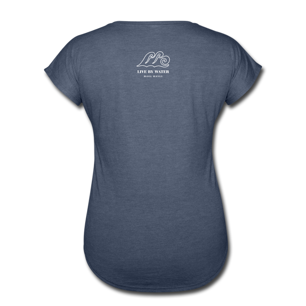 Be Inspired by the Water-Women's 2-sided V-Neck T - navy heather