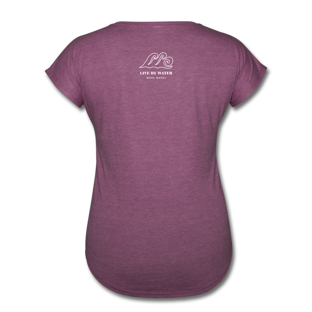 Be Inspired by the Water-Women's 2-sided V-Neck T - heather plum
