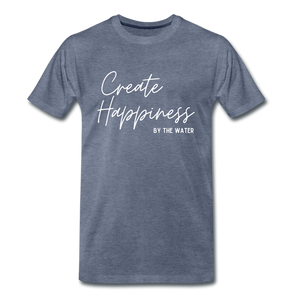 Create Happiness-Unisex 2-sided T - heather blue