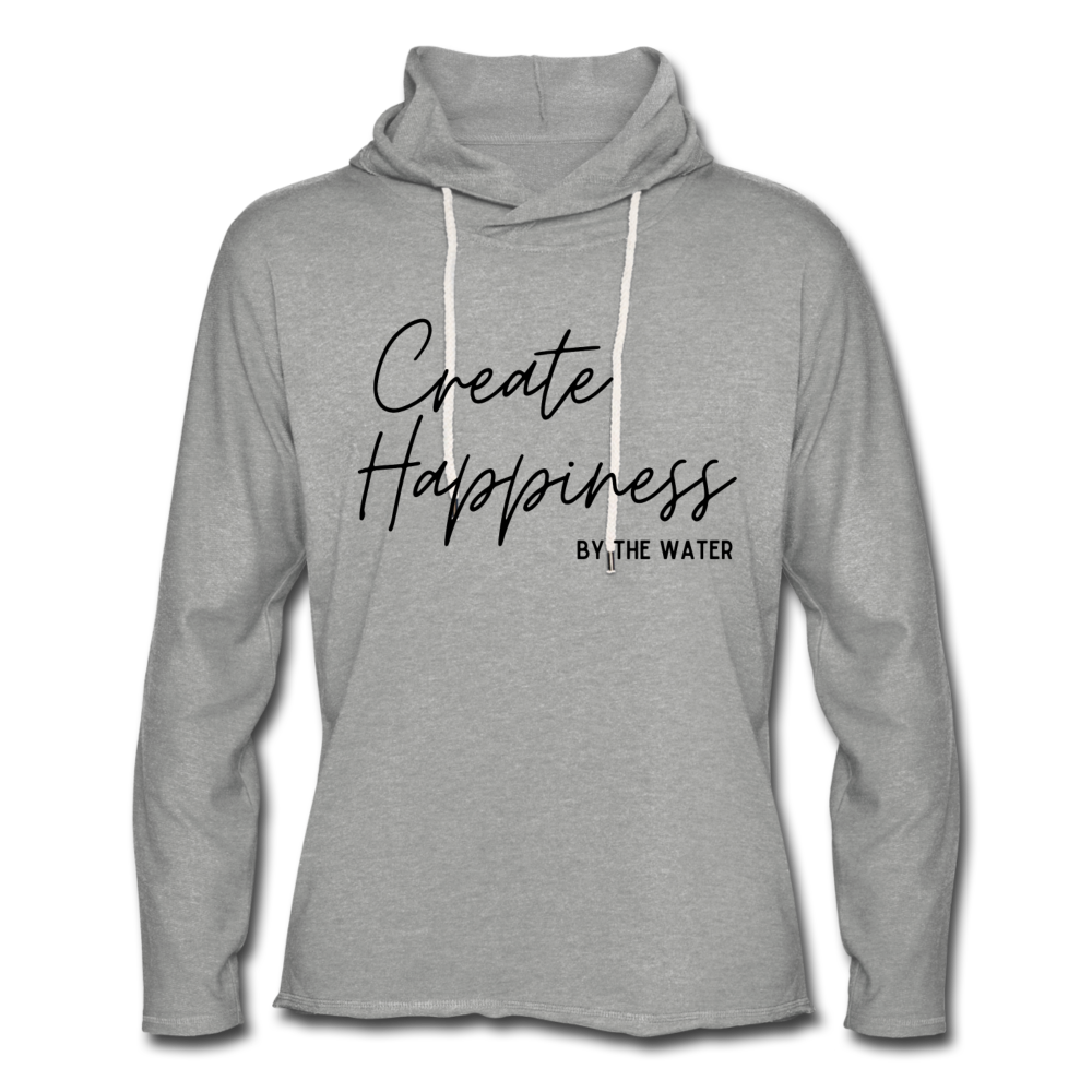 Create Happiness-Unisex 2-sided Terry Hoodie - heather gray