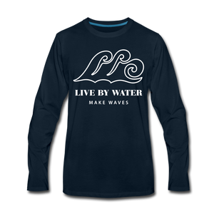 Classic Logo-Unisex Long Sleeve T - deep navy