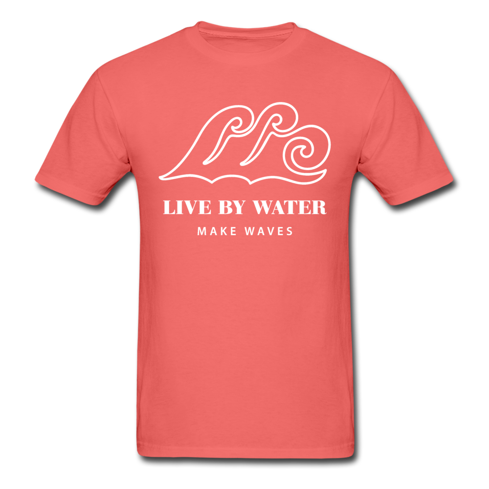 Classic Logo-Unisex Garment Dyed T-Shirt - coral