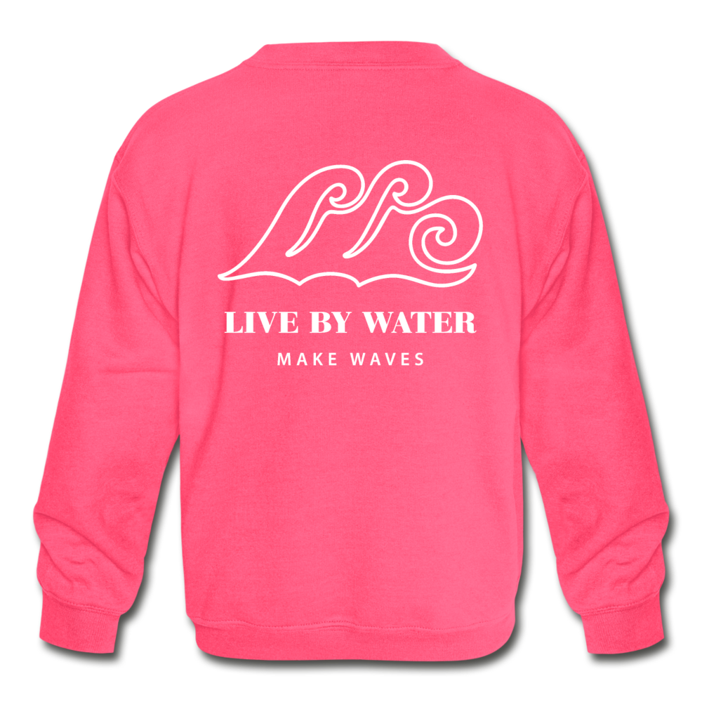 Salty-Kids' 2-sided Sweatshirt - neon pink
