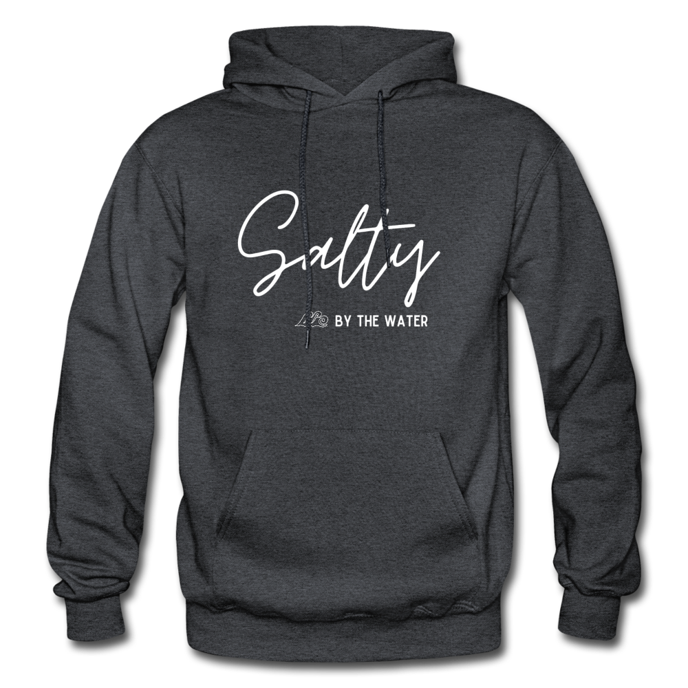 Salty by the Water-Unisex Hoodie - charcoal gray