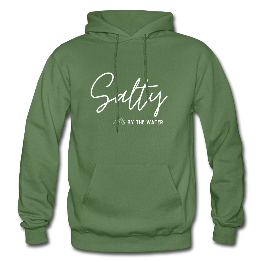 Salty by the Water-Unisex Hoodie - military green