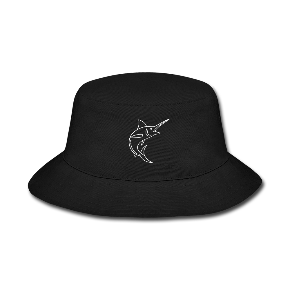 Swordfish LBW Bucket Hat - black