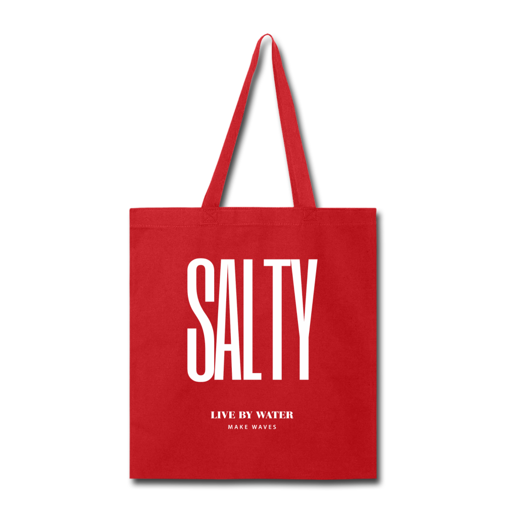 Salty Live by Water-Tote Bag - red
