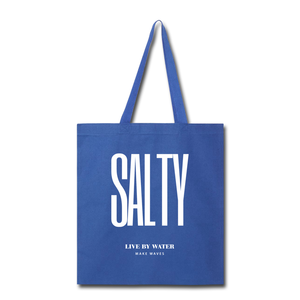 Salty Live by Water-Tote Bag - royal blue