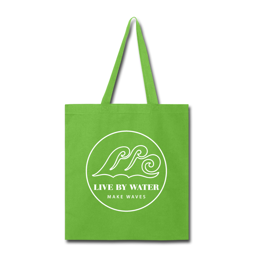 Classic Logo-Tote Bag - lime green