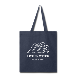 Classic Wave Logo Tote - navy