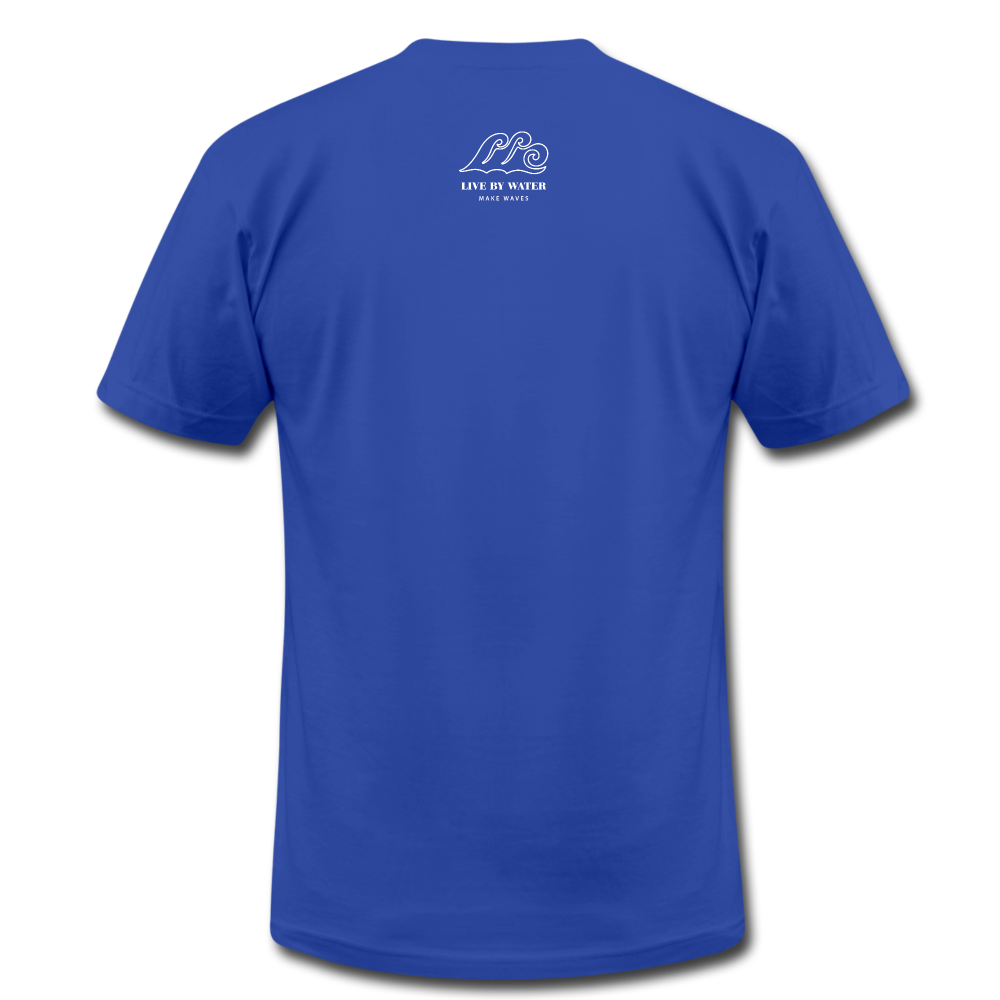 Oh so Pretty Make Waves-2-sided T - royal blue