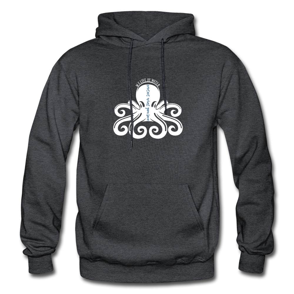 Protect What You Love/Octopus-2-sided Hoodie - charcoal gray