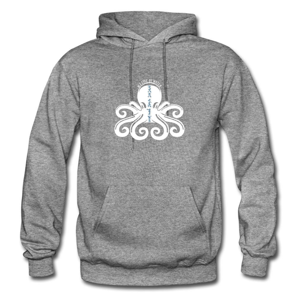 Protect What You Love/Octopus-2-sided Hoodie - graphite heather