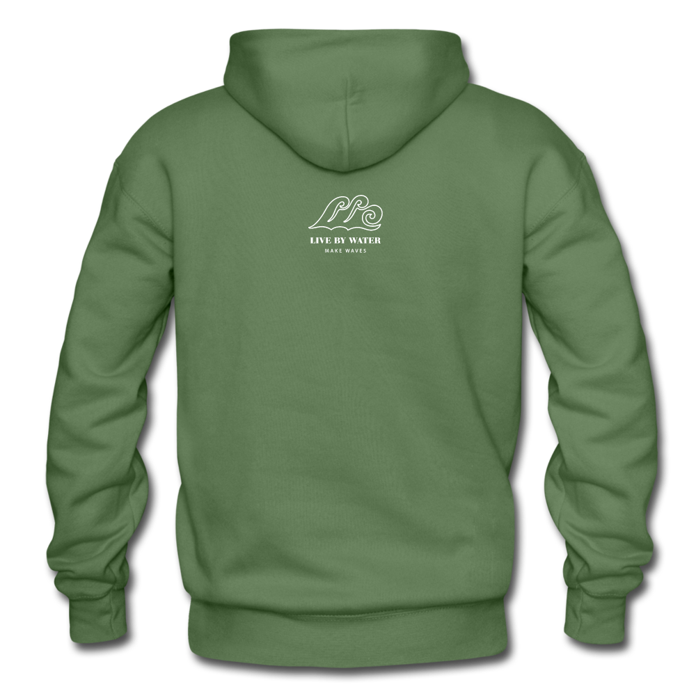 Protect What You Love/Octopus-2-sided Hoodie - military green