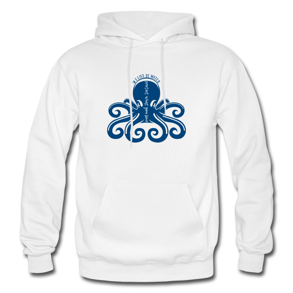 Protect What You Love/Octopus-2-sided Hoodie - white