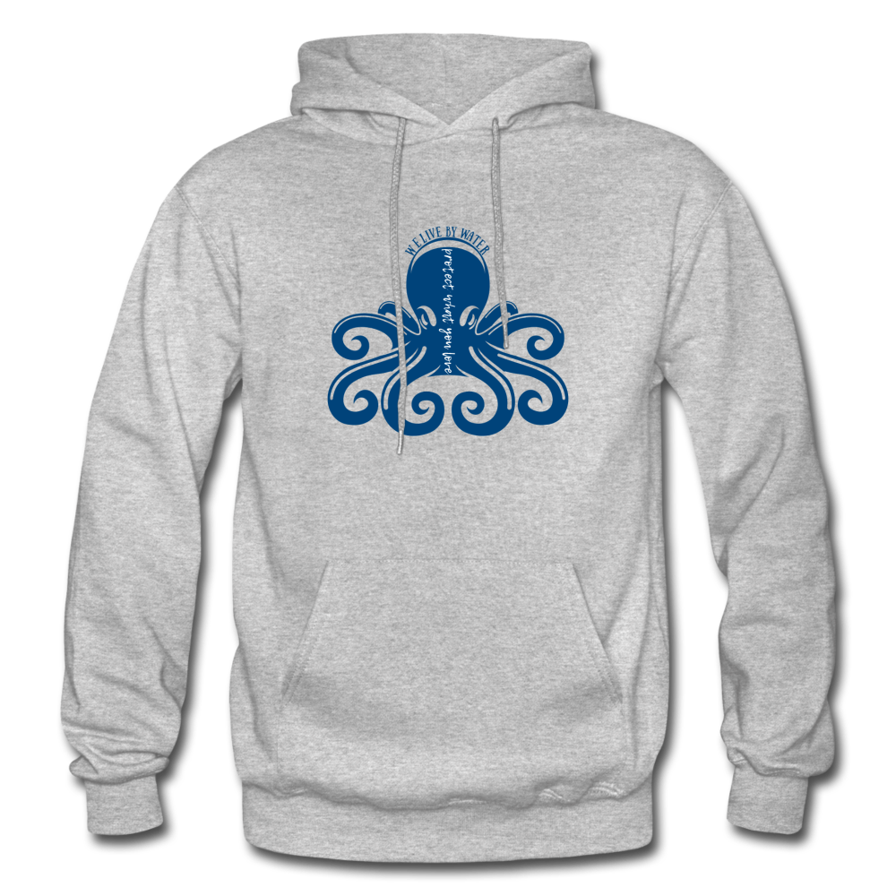 Protect What You Love/Octopus-2-sided Hoodie - heather gray