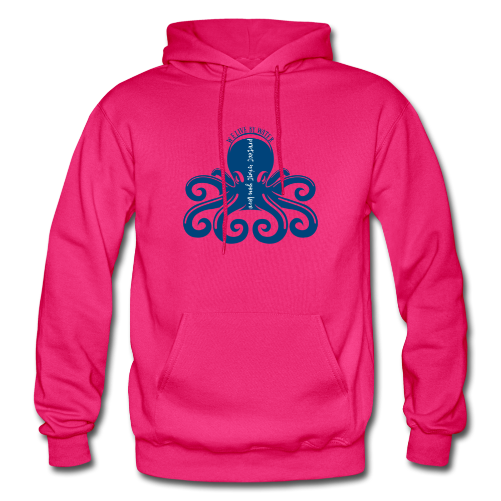 Protect What You Love/Octopus-2-sided Hoodie - fuchsia