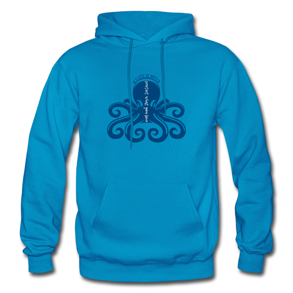 Protect What You Love/Octopus-2-sided Hoodie - turquoise