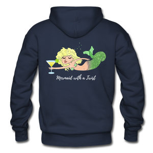 Open image in slideshow, Mermaid with a Twist-Unisex 2-sided Hoodie - navy